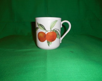 """One (1), Vintage 3 3/4"""" Flaired Mug, from Royal Worcester, in the Eversham Vale Pattern"""