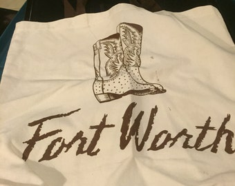 Fort Worth Canvas Tote Bag