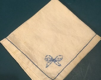 Hand Embroidered Bridal Hankie