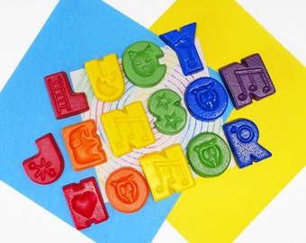 Children's Name Crayons - Personalised Gift - Alphabet Crayons - Made to order - Educational Gift - Letter Crayons - Personalised Toy
