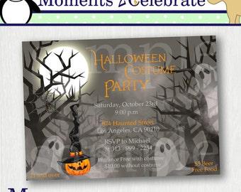 Foggy Night Halloween Invitations - Printable No. 603