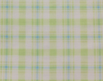 ℳ Light Lime Plaid - by Jackie Clark for Benatex 100% Cotton 45 inch FC12162 Fabric by the Yard, 1 Yard