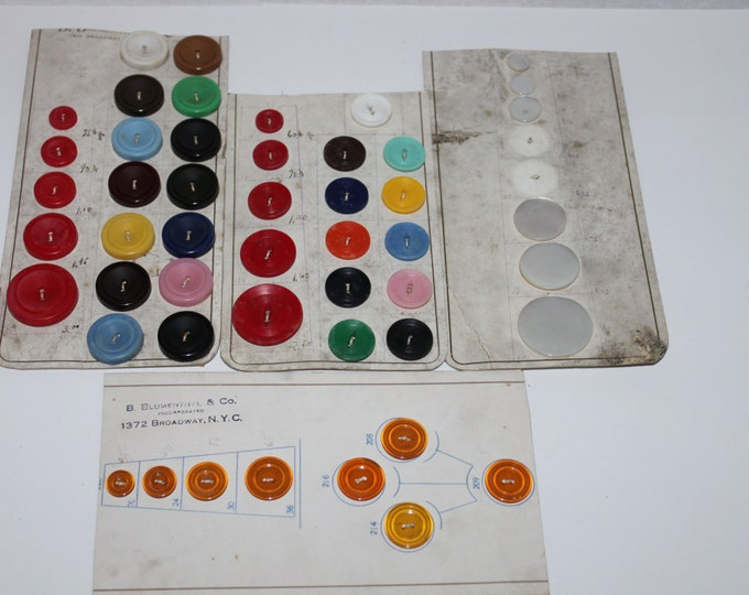 Vintage Buttons, 1950s-60s Buttons from B Blumenthal & Co