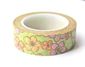 Floral Washi Tape - Sakura Washi Tape - Cherry Blossom Washi Tape - Floral Masking Tape - 10 meters