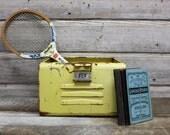 Vintage Yellow Gym Locker Basket