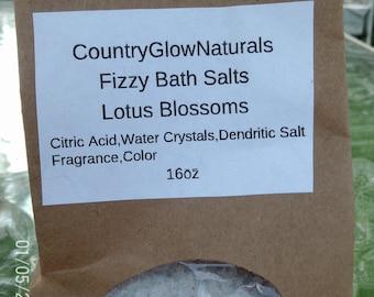 16 oz Lotus Blossom Fizzy Bath Salts