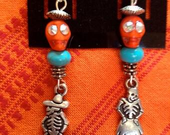 Day of the Dead, Dia De Los Muertos Earrings, Halloween Earrings