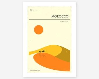 MOROCCO TRAVEL POSTER (Giclée Fine Art Print/Photo Print/Poster Print) by Jazzberry Blue