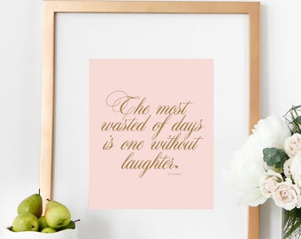 PRINTABLE Motivational LAUGHTER Poster Wall Decor Home Art