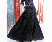 faux fur skirt thick skirt  winter skirt  long skirt black skirt faux fur skirt wool skirt wool dress winter dress winter coat