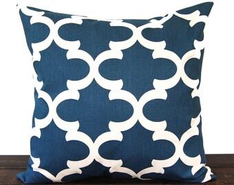 Throw pillow cover One blue natural Fynn Cadet Blue cushion cover pillow sham