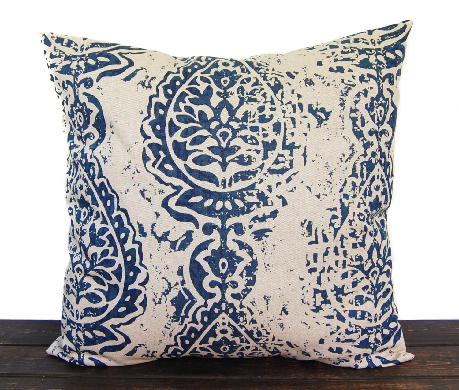 Navy Blue pillow cover throw pillow one navy by ThePillowPeople