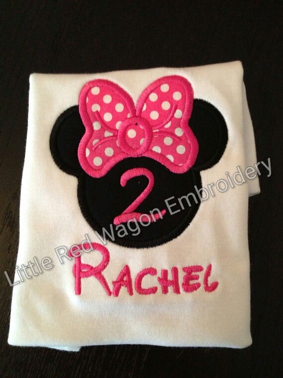 Minnie Mouse girl head with or without numbers, birthday, vacation
