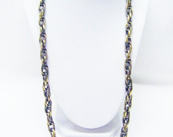 28 Inch Large Link Antique Bronze Plated Rope Chain Necklace