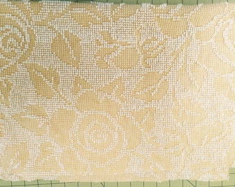 Vintage Yellow Rose Chenille Bedspread FQ