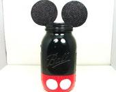 Mickey Mouse Bank, Disney Bank, Mickey Mouse Jar, Mickey Jar Bank, Savings Jar, Saving Money, Childrens Bank, Ball Jar, Disneyworld