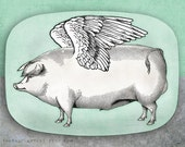 Pigs Fly melamine serving platter
