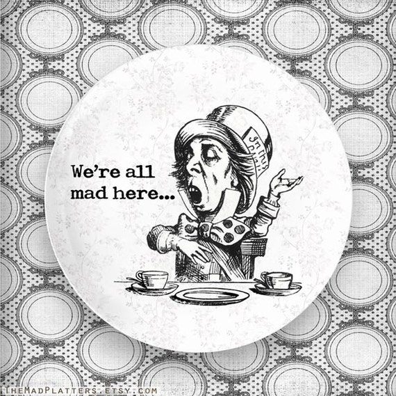 The Mad Hatter melamine plate