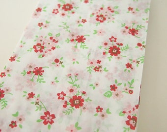 30 SMALL White Paper Bag Floral Pattern/with NO GUSSET - craft/packaging/gift wrapping/food