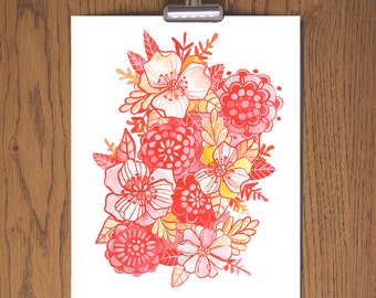 Day 111 Floral Art Print - Makewells365