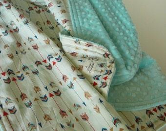 Multi Arrow Minky Baby Blanket