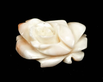 Hand Carved Angel Skin Coral Flower UNMOUNTED