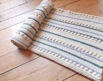 Rustic Bobble Baby Blanket - Instant Download PDF Crochet Pattern
