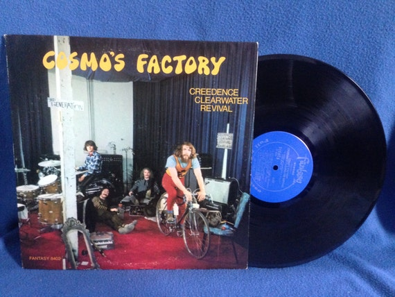 "Vintage, Creedence Clearwater Revival - ""Cosmo's Factory"", Vinyl LP Record Album, Original Press, Fantasy Blue Label, Run To The Jungle, CCR"