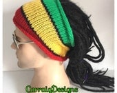 BUY1GET1HALFPRICE,Designer dreadlock headband,mans/mens/unisex guy,hand crocheted/knitted dread tube wrap,rasta,jamaican boyfriend tam,hippy