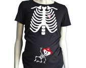 Skeleton MATERNITY Shirt short sleeve, Fire Fighter Baby Custom Pregnancy Shirt Themed Baby Announcement, Fireman Halloween Costume Tshirt