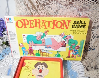 1965 Operation Skill Game Rare Smoking Doctor /Gift Idea/ NOT INCLUDED In Clearing Out Sale /Nose Light up BUT no noise / S