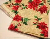 1 1/2 yards of poinsettia fabric (R4)