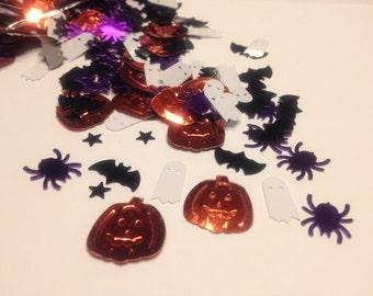 Halloween mix confetti / sequins , 12 - 20 mm (19)+