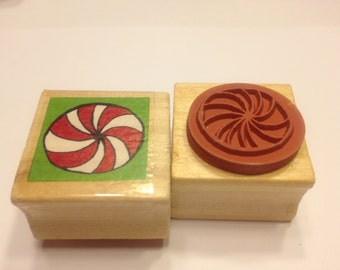 small Peppermint Candy rubber stamp, 25 mm (BB4/8)