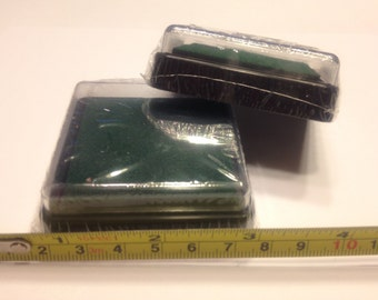 2 inch green ink pad, (BB4)