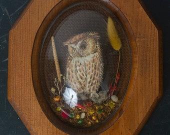 3-D Owl Plaque