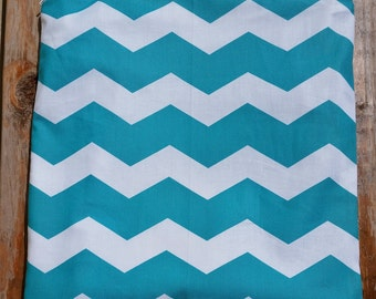 Stylish Turquoise Chevron  Wet/Dry Bag Wet or  Swimsuit Bag and Eco-Friendly