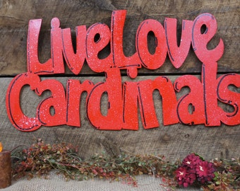 Live Love Cardinals Wood Cutout Show Your Team Spirit With