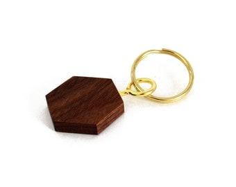 Geometric Wood Keychain