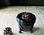 Art Deco Black Amethyst Glass Cachepot Planter