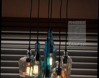 The Glendora - Recycled Bottle Light Chandelier
