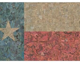 Texas Flag Print 11x17