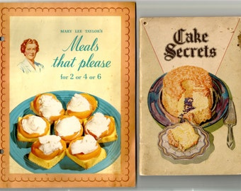 3 Vintage Cook Booklets, Swans Down, Pet Milk, Robin Hood Advertising Cookbooks