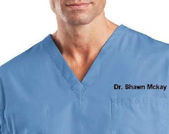 Personalized Medical Scrubs for men or Ladies V-Neck Scrub ,scrub pants/  scrub