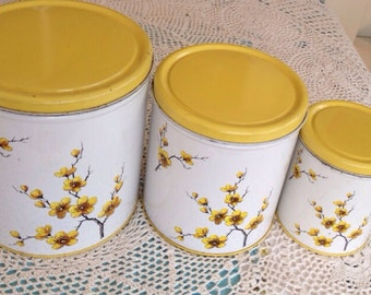 Lovely Floral Kitchen Canister Set