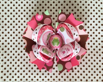 Ready To Ship Hairbow! Princess Hairbow, Frog Prince Hairbow, Polka Dot Boutique Hairbow, Girls Hairbow