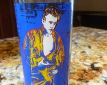 Vtg Andy Warhol James Dean Rebel Without A Cause pint glass