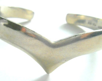 Vintage Sterling Cuff Bracelet Taxco Mexico