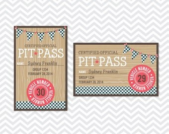 Powder Puff Derby Pit Passes - INSTANT DOWNLOAD PRINTABLE - Driftwood Collection
