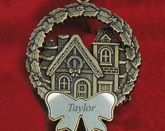 Personalized Victorian House Bronze Ornament